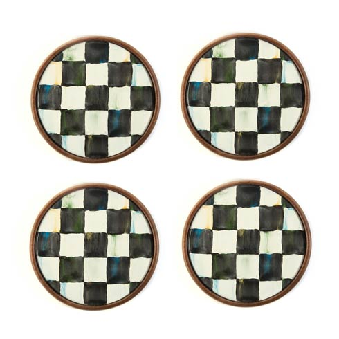 MacKenzie-Childs Courtly Check Tabletop Coasters - Set Of 4 $58.00