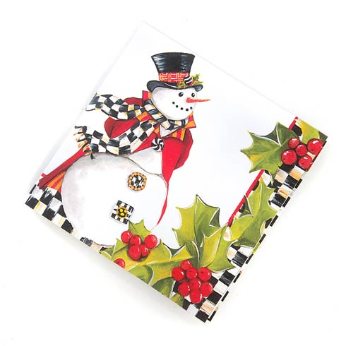 $6.95 Top Hat Snowman Paper Napkins - Cocktail
