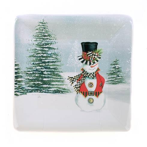 $5.95 Top Hat Snowman Paper Plates - Salad/Dessert