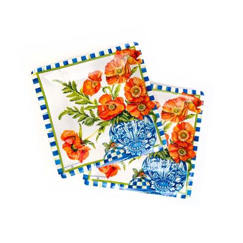 $8.95 Ming Poppies Paper Plates - Salad/Dessert
