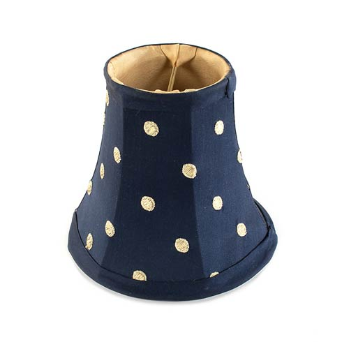 $45.00 Polka Dot Chandelier Shade - Navy