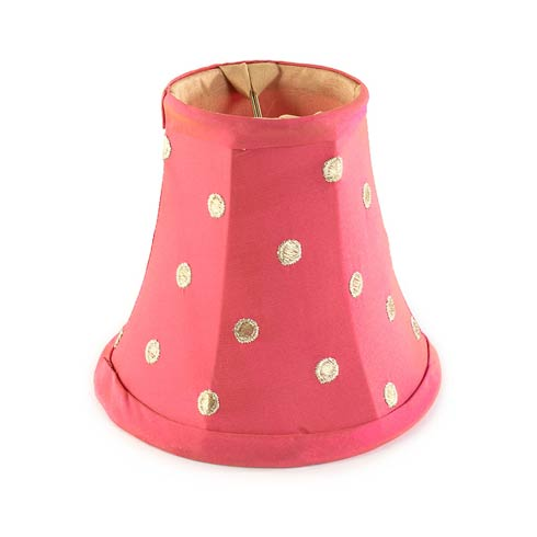 $45.00 Polka Dot Chandelier Shade - Pink