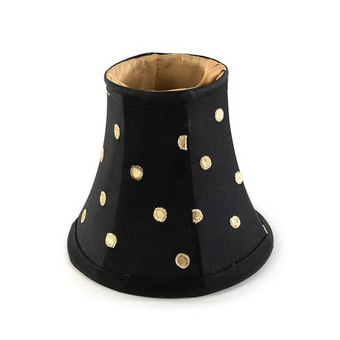 $45.00 Polka Dot Chandelier Shade - Black