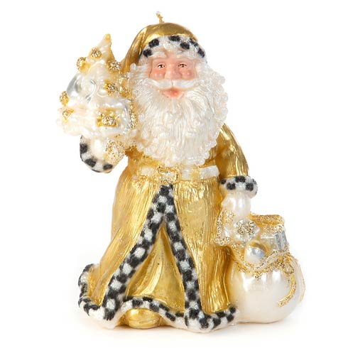 $78.00 Night Before Christmas Santa Candle - Gold