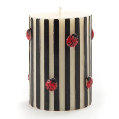 $28.00 Ladybug Pillar Candle - Black