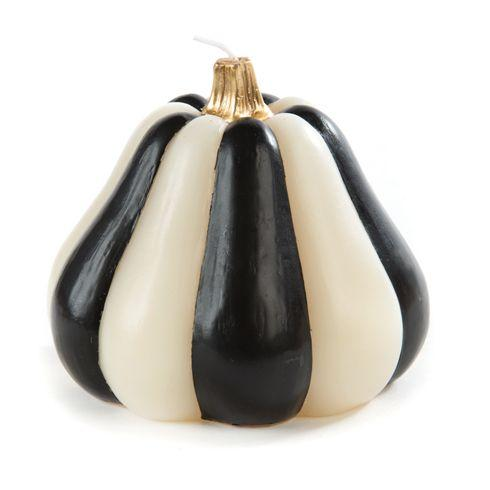 MacKenzie-Childs  Black & White Black & White Stripe Gourd Candle $48.00
