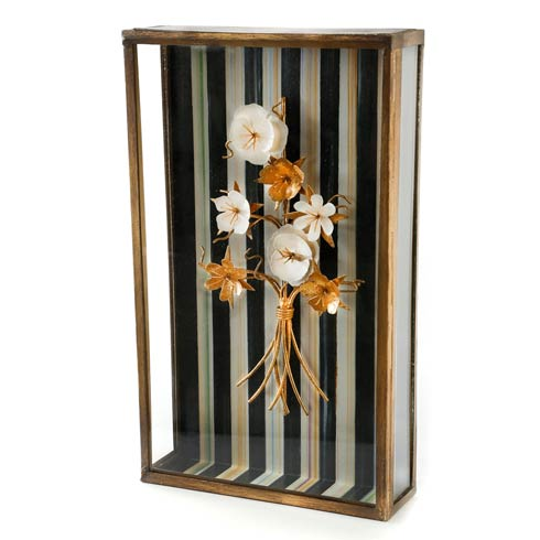 $128.00 Golden Flower Shadow Box