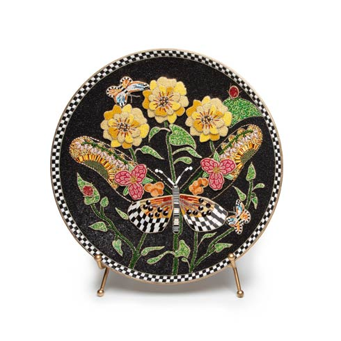 $238.00 Butterfly Bloom Decor Tray