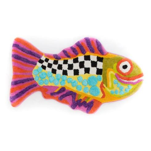 $88.00 Happy Fish Bath Mat