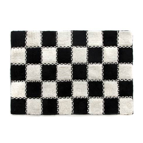 $80.00 Covent Square Bath Rug - Black & White