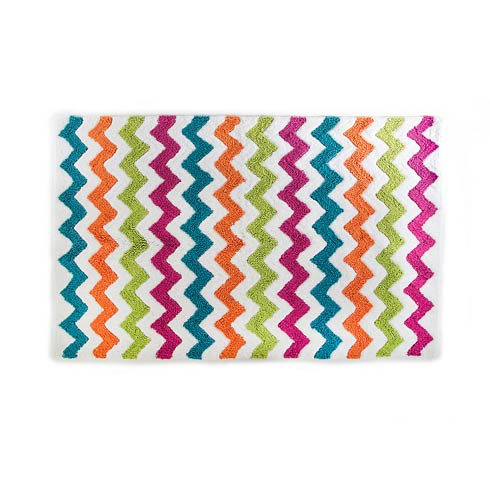 $145.00 Zig Zag Bath Rug - White - Large