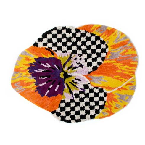 $135.00 Pansy Bath Rug - Orange