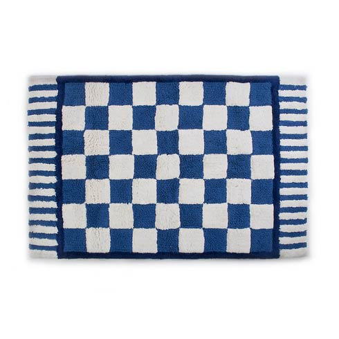 $145.00 Royal Check Bath Rug - Large