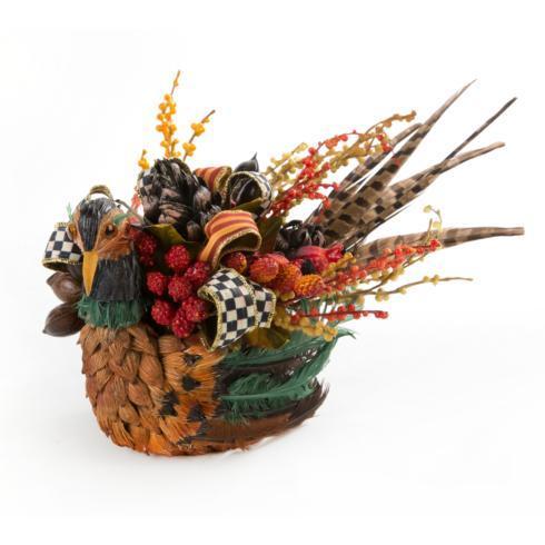 $125.00 Bittersweet Pheasant Centerpiece