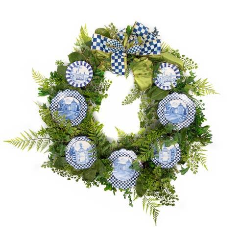 $498.00 Fern Wreath - Royal Toile