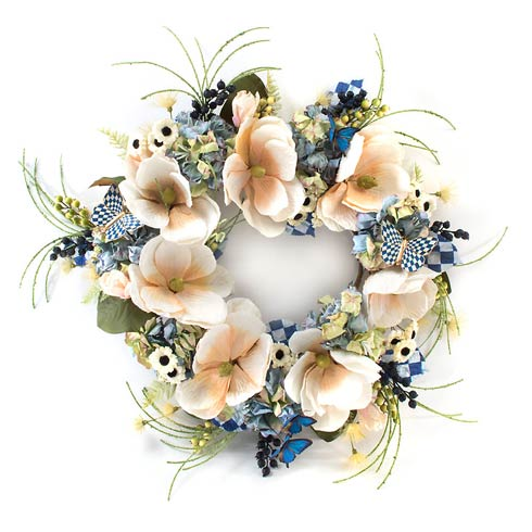 $298.00 Royal Check Butterfly Wreath