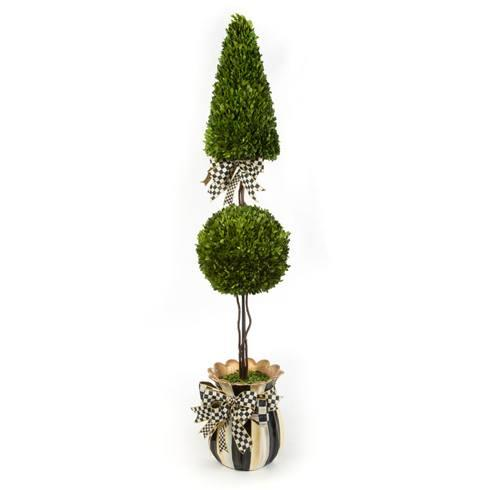 $595.00 Courtly Check Cone & Ball Topiary