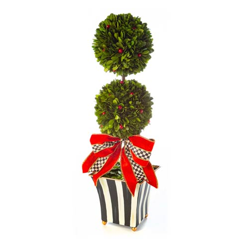 $178.00 Classic Courtly Boxwood Topiary - Large