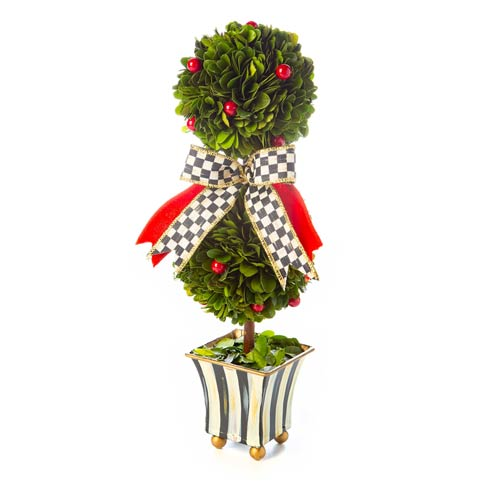 $128.00 Classic Courtly Boxwood Topiary - Small