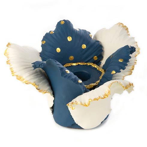 $48.00 Daffodil Candle Holder - Blue & White