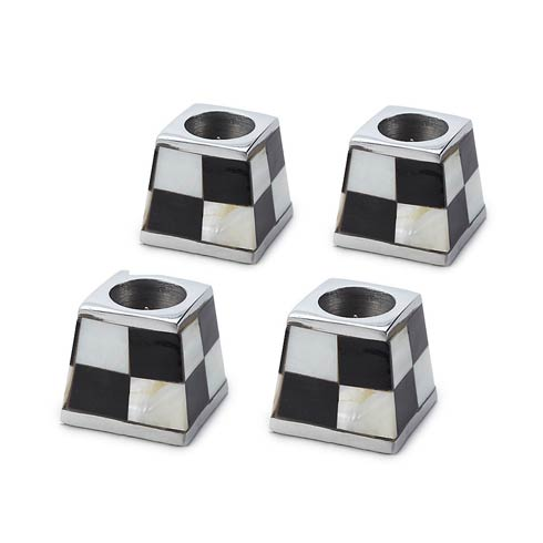 MacKenzie-Childs Glow Candleholders & Accessories Pyramid Candle Holders - White - Set Of 4 $68.00