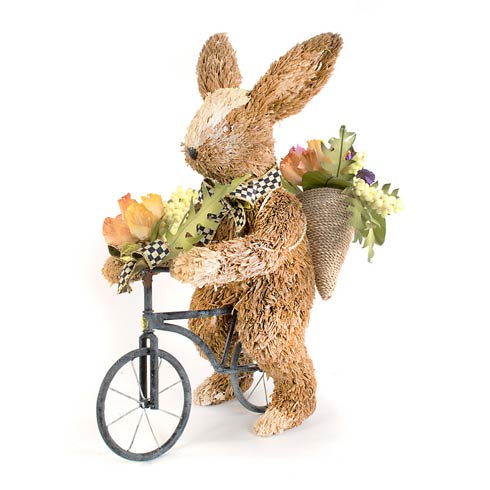 MacKenzie-Childs Seasonal Easter Farmhouse Garden Bunny On Bike $175.00