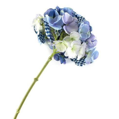 MacKenzie-Childs Royal Check Decor Royal Check Hydrangea - Blue $22.00