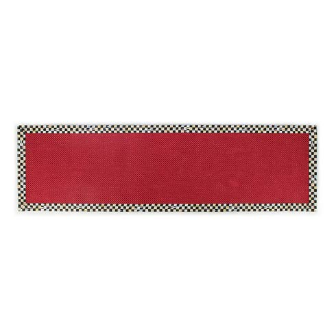 "$295.00 Red Sisal Rug - 2\'6"" X 9\' Runner"