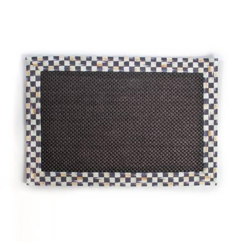 MacKenzie-Childs  Courtly Check Black Sisal Rug - 2' x 3' $98.00