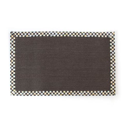 MacKenzie-Childs Courtly Check Decor Black Sisal Rug - 3\' x 5\' $175.00