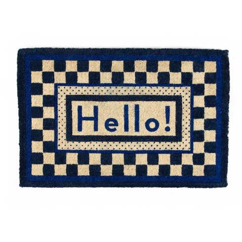 $125.00 Hello Entrance Mat - Royal