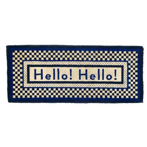 $195.00 Hello Double Door Entrance Mat - Royal