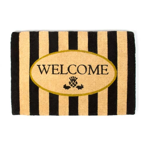 MacKenzie-Childs  Awning Stripe Welcome Mat $120.00