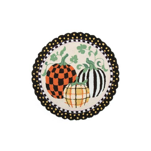 $150.00 Pumpkin Patch Rug - 3\' Round