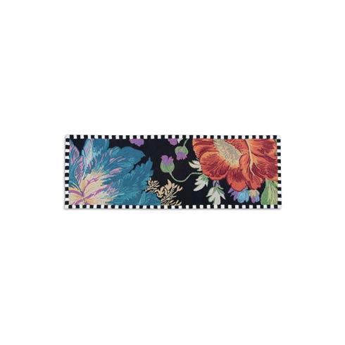 """MacKenzie-Childs Flower Market Decor Reflections Rug - Black - 2\'6"""" x 8\' Runner $395.00"""