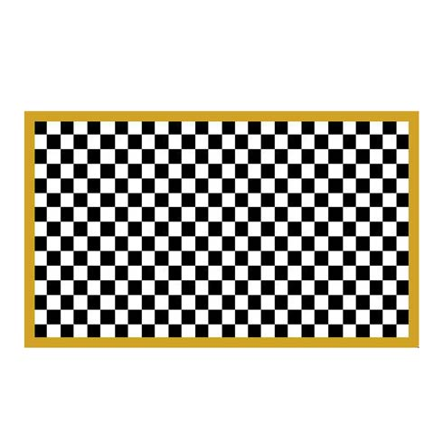 """$115.00 Check It Out Rug - 2\'3\' x 3\' 9""""- Gold"""