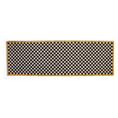 """$325.00 Check It Out Rug - 2\'6""""x 8\' Runner - Gold"""