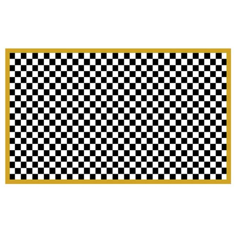 $225.00 Check It Out Rug - 3\' x 5\' - Gold