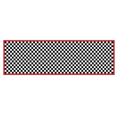 """$325.00 Check It Out Rug - 2\'6""""x 8\' Runner - Red"""
