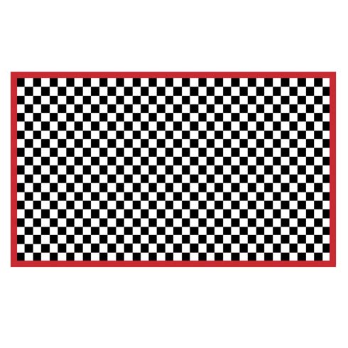 $225.00 Check It Out Rug - 3\' x 5\' - Red