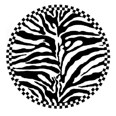 $825.00 Zebra Rug - 6\' Round