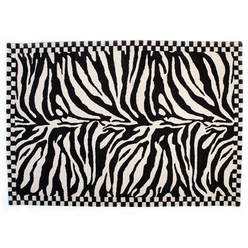 $825.00 Zebra Rug - 5\' x 8\'