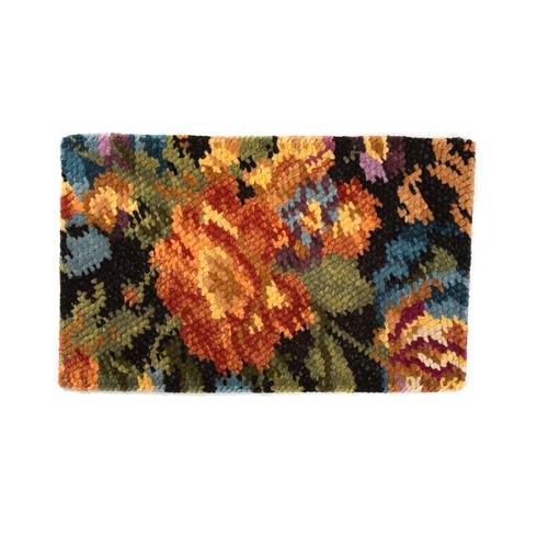 $395.00 Flowers Rug - Black - 3\' x 5\'