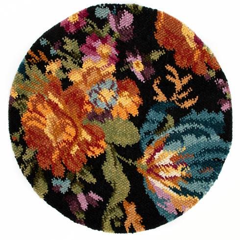 $895.00 Flowers Rug - Black - 6\' Round