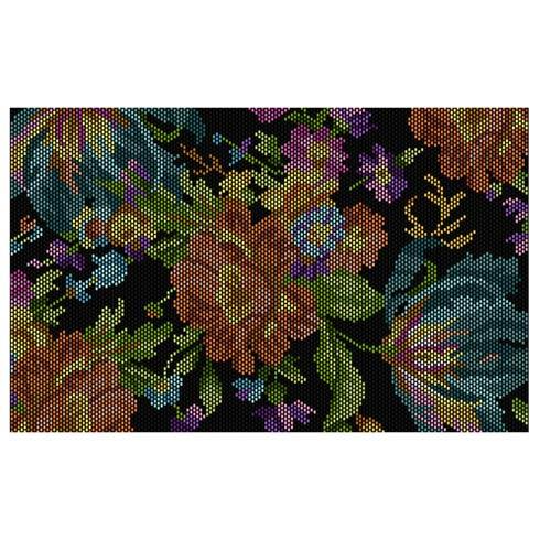 $995.00 Flowers Rug - Black - 5\' x 8\'