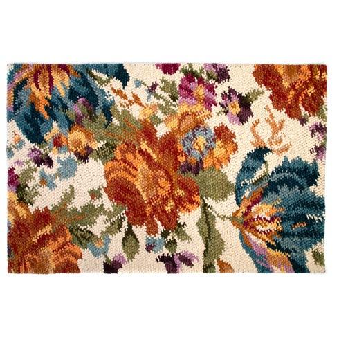 $995.00 Autumn Flowers Rug - 5\' x 8\' - Ivory