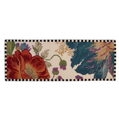 """$425.00 Flower Market Reflections Rug - 2\'8"""" x 8\' Runner - Ivory"""