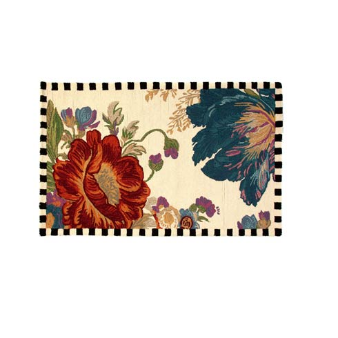 $375.00 Flower Market Reflections Rug - 3\' x 5\' - Ivory
