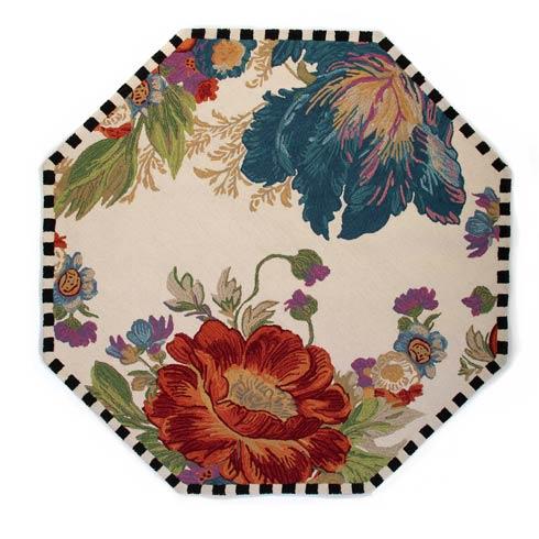 $725.00 Flower Market Reflections Rug - 6\' Octagon - Ivory