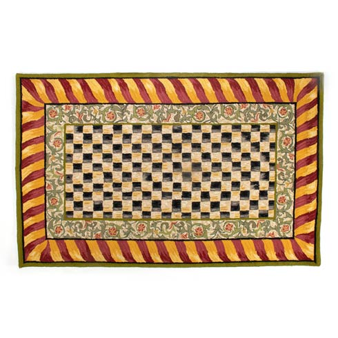 $895.00 Rug - 5\' X 8\' - Red & Gold